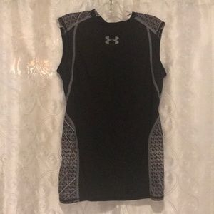 Under Armour NFL Black Fitted Tank Top Size YMD!